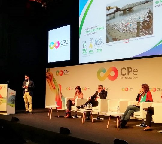 José Ángel Ramos, our Technical Manager, presents the BIOpolymers advantages against the pollution at Chemplast Congress 2019